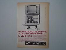 advertising Pubblicità 1962 ATLANTIC TELEVISORE FRIGOBAR