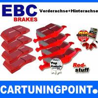 EBC PASTILLAS FRENO delant. + eje trasero Redstuff para VW CADDY 3 2kb DP31517C