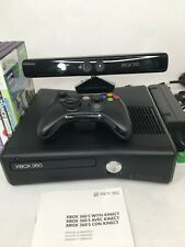 Mircrosoft X-Box 360 Game Console Black with Kinect, Controller and 5 Game Disc