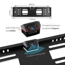 Wasserdicht Nummernschild Rückfahrkamera 170° Auto Kamera Kennzeichen halterung
