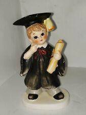 Vintage Lefton Birthday boy month figurines June - graduation