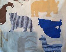 Fabric. Safari Pattern material, fat quarter sewing, crafts, Elephant rhino c