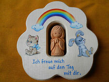 Kinderkreuz Himmelselement mit Keramikengel Taufe Kommunion