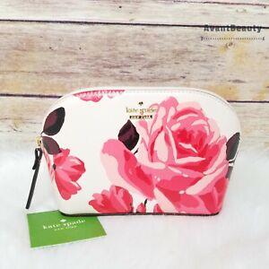 NWT Kate Spade Cameron Street Rose Small Dome Abalene Cosmetic Makeup Bag Pink