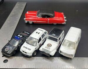 LOT Welly Diecast Cars Police Emergency Vehicles Cadillac Eldorado VW Van BMW