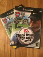 EA SPORTS TIGER WOODS PGA TOUR 2003 - NINTENDO GAMECUBE - W/MANUAL FREE S/H (L)