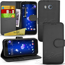 For HTC Desire Phones - Wallet Leather Flip Case Cover + Screen Protector