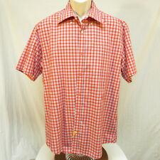 LINCS David Chu Red Plaid Shirt with front pocket Size L