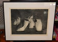 PENGUIN SIESTA by Kalman Aron Artist Pencil Signed  Etching LIMITED EDITION 4/26