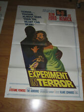 Experiment in Terror Original 1sh Movie Poster