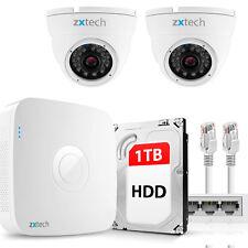 2 HD 1.3MP Professional IP IPC & NVR PoE DDNS Motion P2P CCTV System 1TB OE42AA1