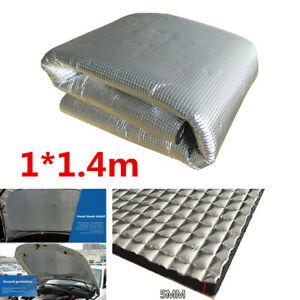 1x1.4m Universal Car Engine Noise Insulation Pad Heat Shield Sheet Mat Cotton
