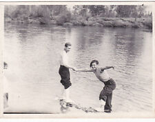 1960s Nude muscle men bathe in river gay interest #2 Russian Soviet photo