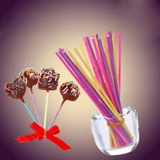 100pcs/pack Cake Pop Lollipop Solid Paper Stick Multi Color Oven Use I