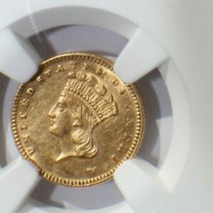 1877 Indian Gold Dollar * Key Date* NGC Uncirculated Details - *Rotated Reverse*