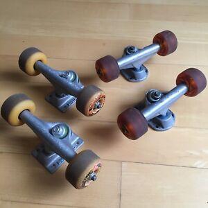 Vintage 90s Skateboard Trucks & Wheels Destructo Gullwing Spitfire Peter Smolik