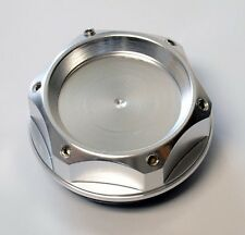 6 Angle Anodized Silver Aluminum JDM Oil Filler Cap FITS Nissan & Infiniti