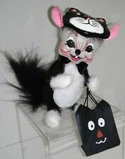 2005 Annalee Halloween Mouse Masquerading as Cat With Trick or Treat Bag