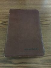 NAS Study Edition Bible Holman 1976 Lockman Top Grain Cowhide Thumb Index Brown