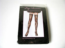 Sexy Bow Design Lace Thigh Highs Black or Red Hold Ups Lace Top Leg Avenue