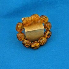 "Real Amber""crackle"" bracelet from Poland Circa 1980's"