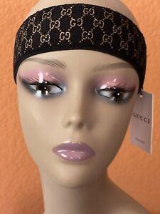 GUCCI Monogram Headband Black Unisex Authentic- (NWT)
