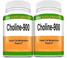 2 Choline Bitartrate 900mg Brain Memory Booster Phosphatidylcholine