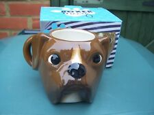 From Aladone Boxer Dog Brown Ceramic Mug