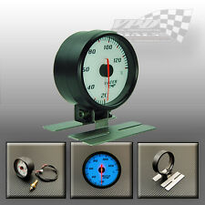 WATER TEMP GAUGE 60MM STEPPER MOTOR WITH DASH MOUNT WHITE DIAL FACE BLUE EL