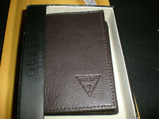 MEN'S BROWN GUESS TEXTURED WALLET NEW