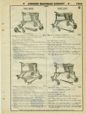 Catalog Page Ad  Baby Bikes Sulkies Wicker Auto Seats ! See!  EC Simmons 1930