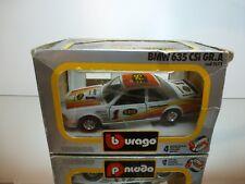 BBURAGO 0173 BMW 635 CSi GR.A - #1 FPS - WHITE 1:24 - GOOD CONDITION IN BOX