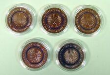 5 Euro Münze Blauer Planet Erde Satz A-D-F-G-J (5 St.) in Kapseln St komplett