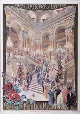 OPERA DE PARIS THEATER  BY CUSSETTI CARLO 1910 VINTAGE POSTER