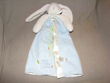 Bunnies By The Bay Security Blanket Best Friends Indeed Blue Rabbit Satin Lovey