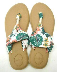 New Sanuk Womens Workout Yoga Sling 2 Floral Thong Sandals Shoes Size US 8 EU 39