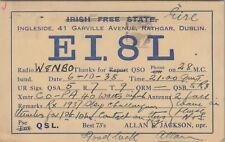 Vintage HAM QSL Radio Cards Rathgar Dublin W8NB0 Used Posted 1938