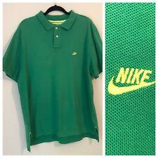 Vintage Men's Nike polo shirt Golf Tennis Casual Short Sleeve Green XL
