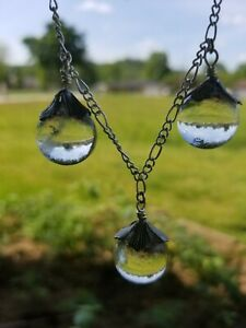 Undrilled Tested quartz pools of light necklace and Earrings silver A Beauty