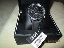 Men's Hugo Boss Navigator Black Nylon Chronograph Watch 1513535