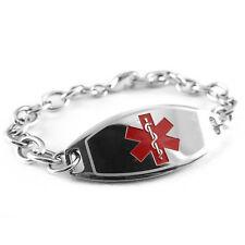 MyIDDr - Pre Engraved - LATEX ALLERGY Medical Bracelet, Free ID Card