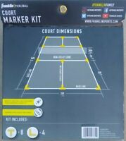 Franklin Sports ~ Pickleball Court Marker Kit 52853P3~ Full Set ~ Bright Yellow