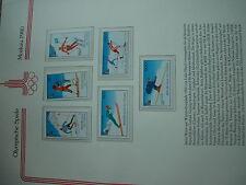 Aus Abo - Olympische Spiele 1980 :  1 Luxus - satz 6 W. xx TSCHAD olympia winter