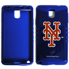 MLB Hybrid Silicone Cover Case for Samsung Galaxy Note 3 III New York Mets