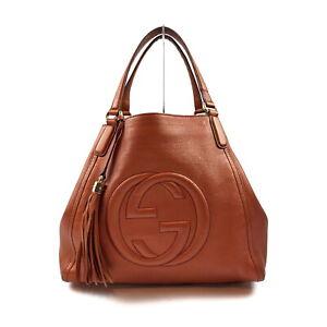 Gucci Hand Bag Soho Oranges Leather 2202290