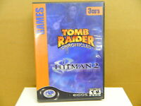 PC Game TOMB RAIDER CHRONICLES & HITMAN 2 - 2 Game / 3 Disc Set Rated T-M Good
