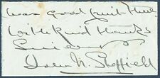 John Nathaniel Quirk (1849 - 1924), Bishop of Sheffield. Clipped Autograph Note