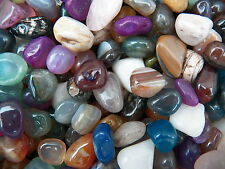3000 Carat Lots of Size #4 Tumbled Polished Gemstones + A FREE Faceted Gemstone