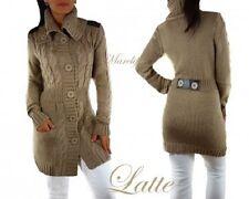 Ladies/Womens Cardigan Jumper Sweater Size L 12UK Latte