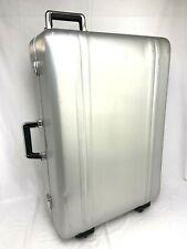 """Zero Halliburton Classic Aluminum 29"""" Four Wheeled Suitcase Luggage *no keys*"""